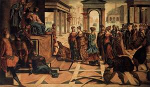 Tintoretto, Solomon and the Queen of Sheba (1545), Gallerie dell'Accademia, Venice.